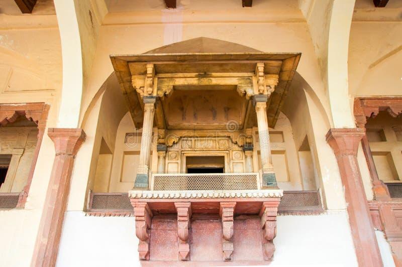 Het balkon van het Lahore-Fort royalty-vrije stock foto's