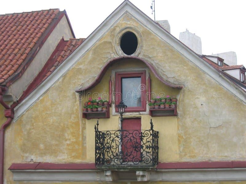 Het Balkon van Praag royalty-vrije stock afbeeldingen