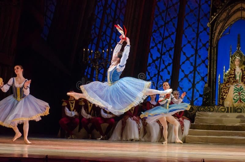 Het ballet van het Meer van de zwaan stock fotografie