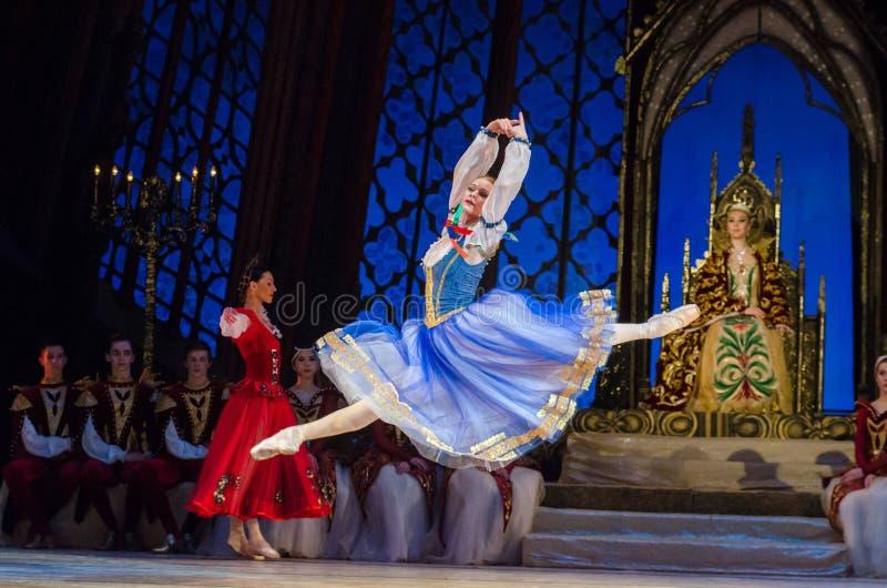 Het ballet van het Meer van de zwaan stock foto's