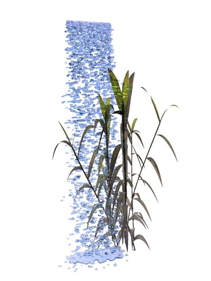Het Bamboe van de Daling van het water vector illustratie