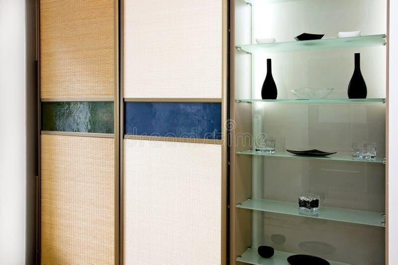 Het bamboe van de garderobe stock afbeeldingen