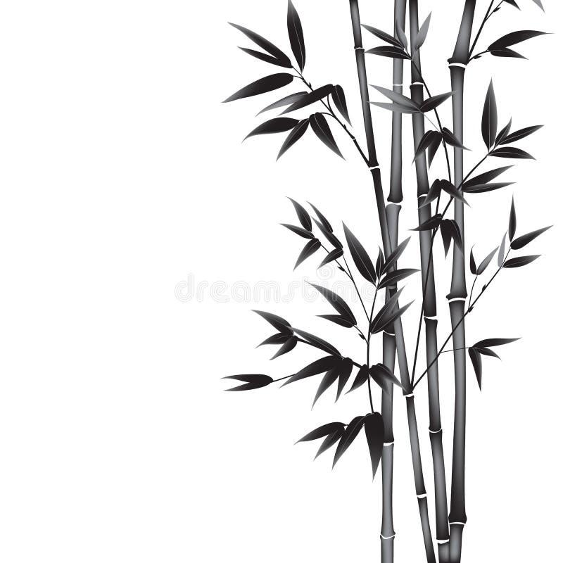 Het bamboe van de inktverf royalty-vrije illustratie