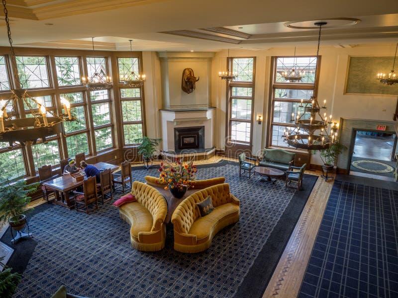Het Banff-de Lenteshotel royalty-vrije stock foto's