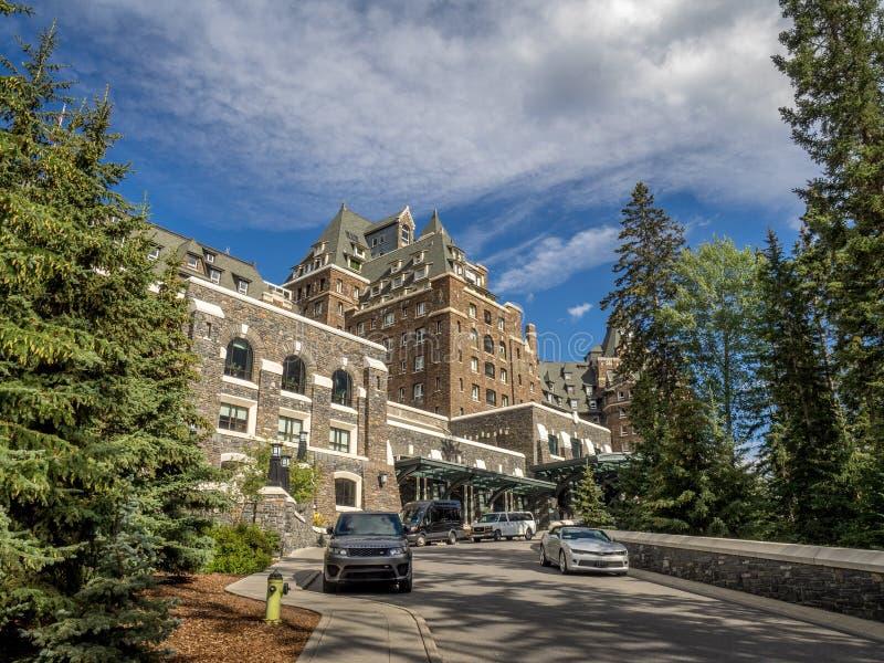 Het Banff-de Lenteshotel royalty-vrije stock foto