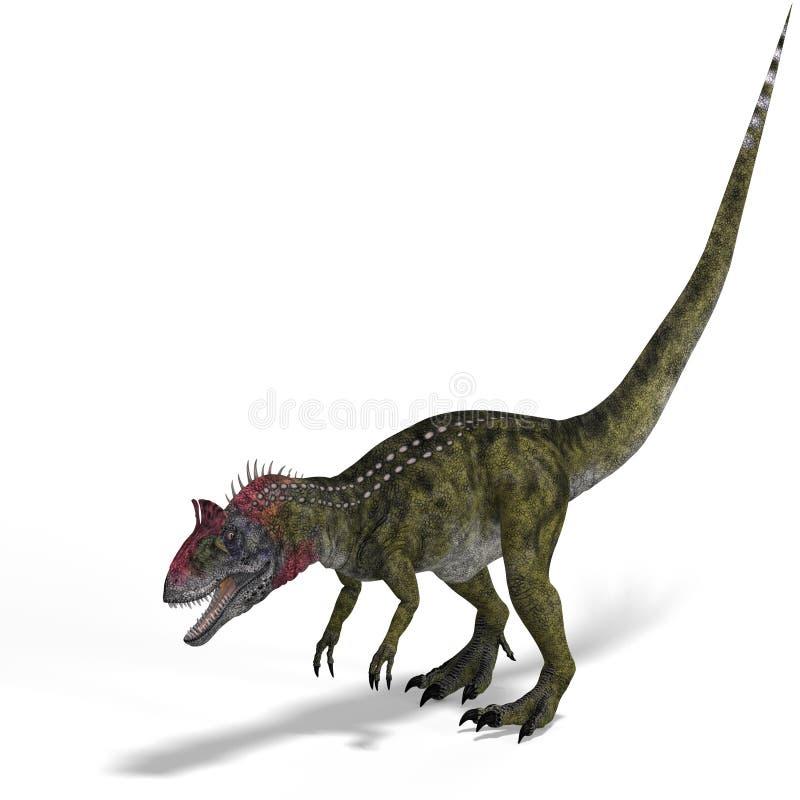 Het bang maken dinosauruscryolophosaurus met royalty-vrije illustratie