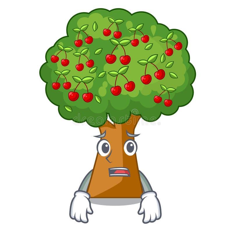 Het bange speelgoed van de kersenboom in karaktervorm vector illustratie