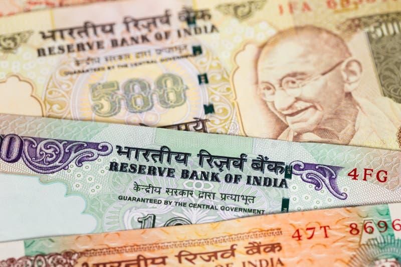 Het bankbiljet van het de Roepiegeld van India