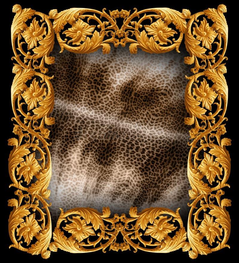 Het barokke patroon van de mengelingsslang royalty-vrije stock afbeelding