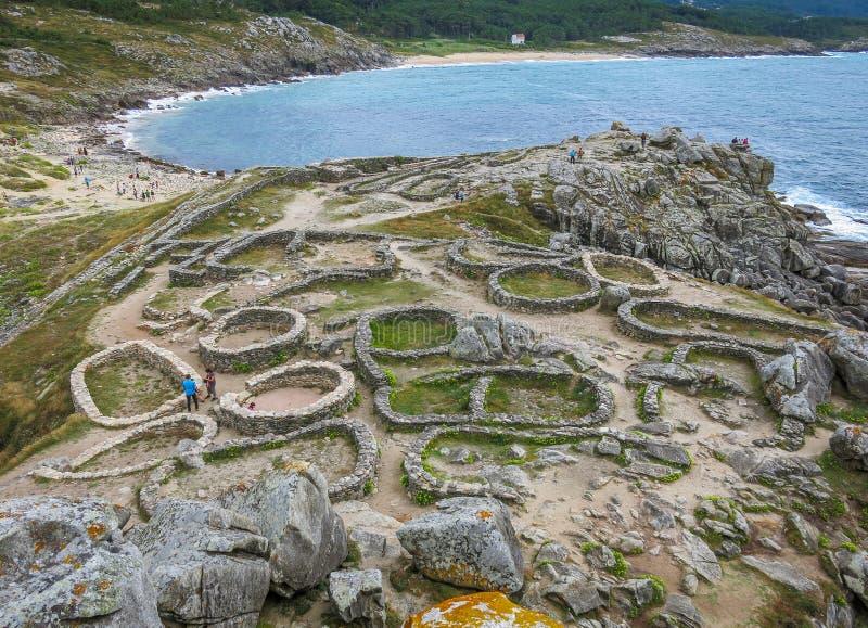 Het Barona` s Fort, dichtbij Porto doet Zoon in de provincie van La Coruna, Galicië royalty-vrije stock foto's