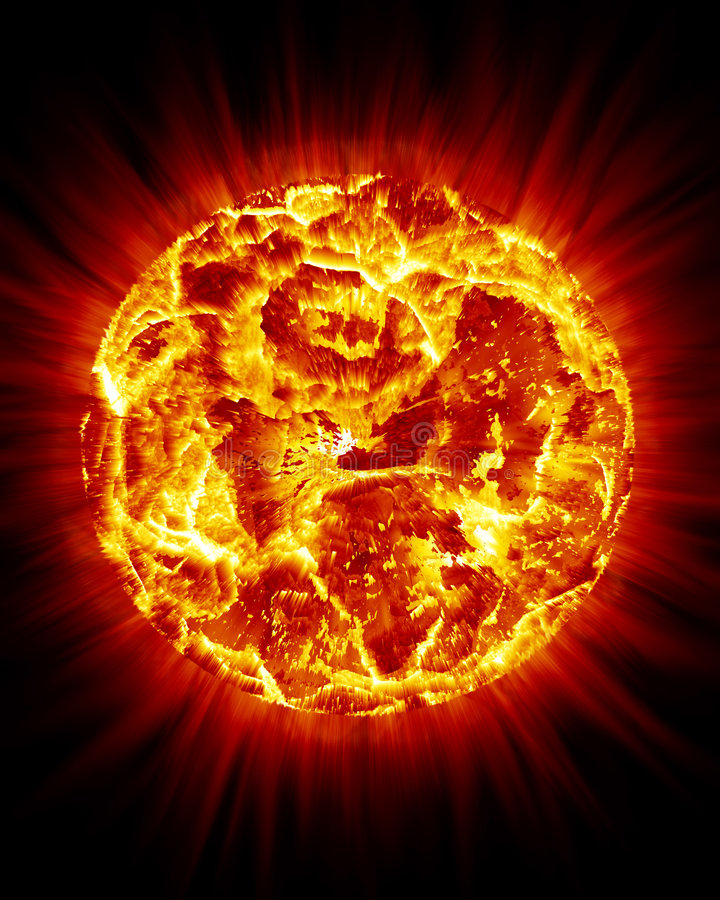 Het Barsten van de zon royalty-vrije illustratie