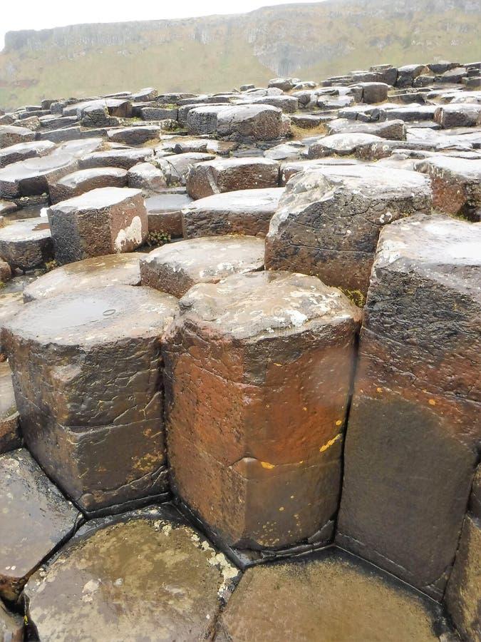 Het basaltkolommen van de reuzenverhoogde weg royalty-vrije stock afbeeldingen