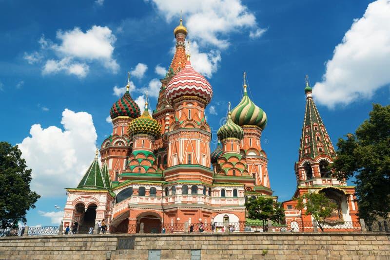 Het Basilicumkathedraal van heilige op het Rode Vierkant in Moskou, Rusland. (Pokr royalty-vrije stock foto's