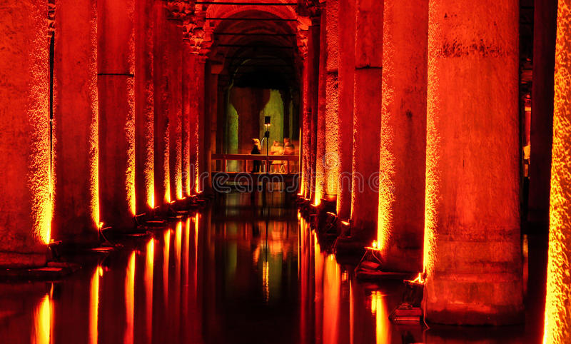 Het Basiliekreservoir Gedaalde Paleis royalty-vrije stock afbeelding