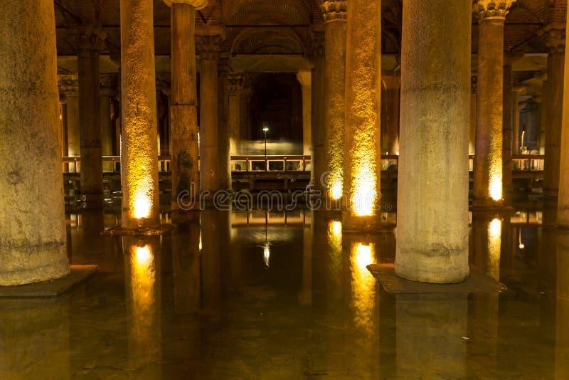 Het Basiliekreservoir (Yerebatan Sarnici) stock fotografie