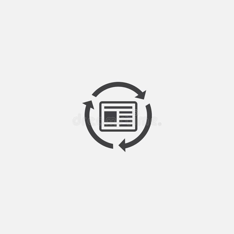 Het basispictogram van de Optimalisering van de inhoud Eenvoudig vector illustratie