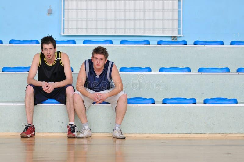 Het basketbal ontspant royalty-vrije stock afbeelding