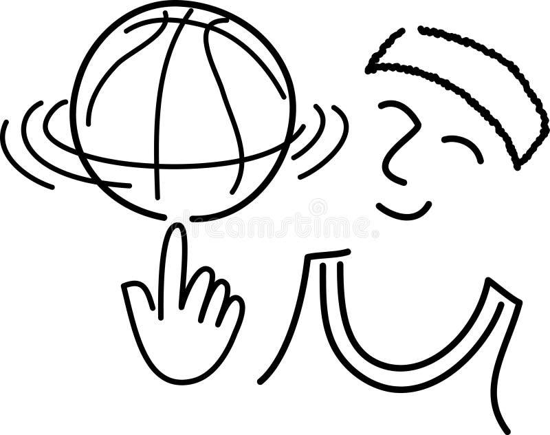Het Basketbal Player/ai van het beeldverhaal stock illustratie