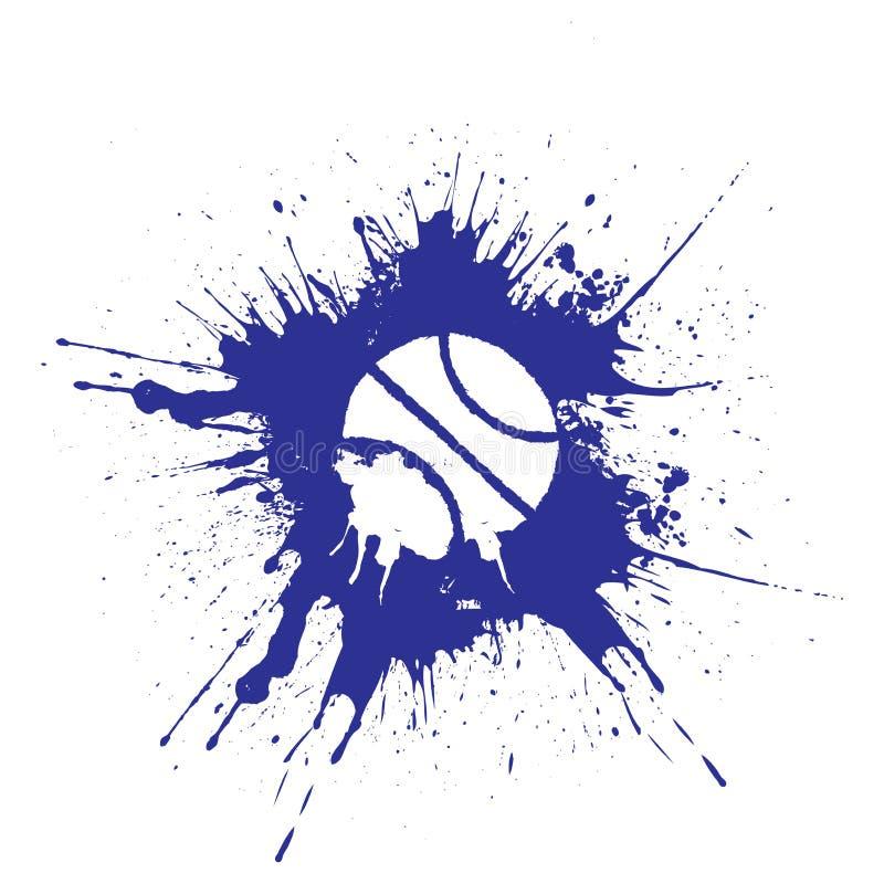 Het basketbal van de Grungestijl Vector illustratie die op witte achtergrond wordt geïsoleerdd vector illustratie