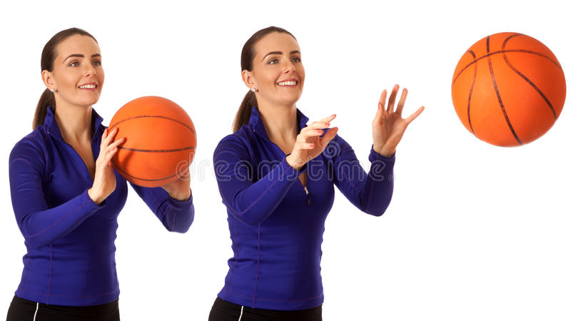 Het Basketbal van vrouwen stock afbeeldingen