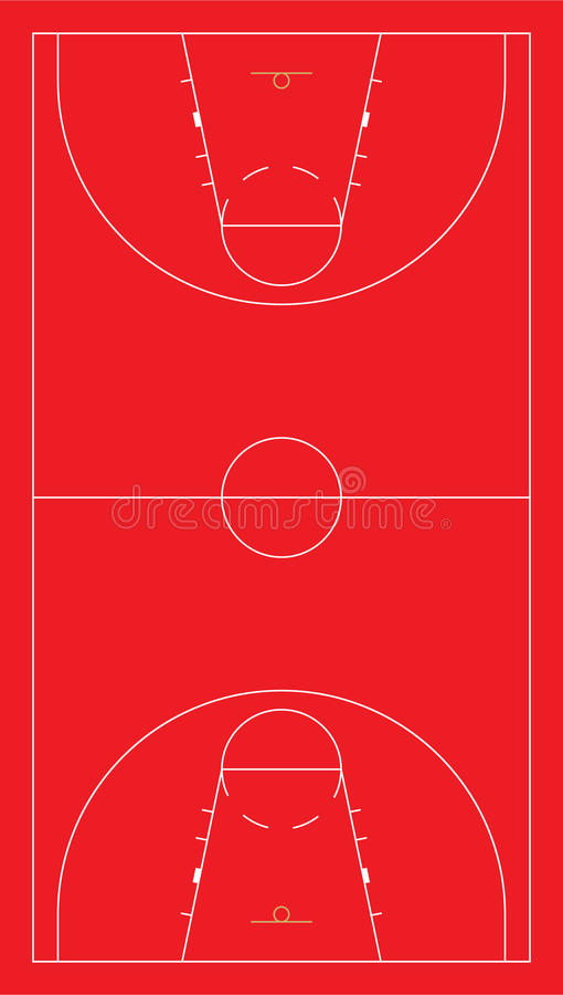 Het basketbalhof van de EU royalty-vrije stock foto