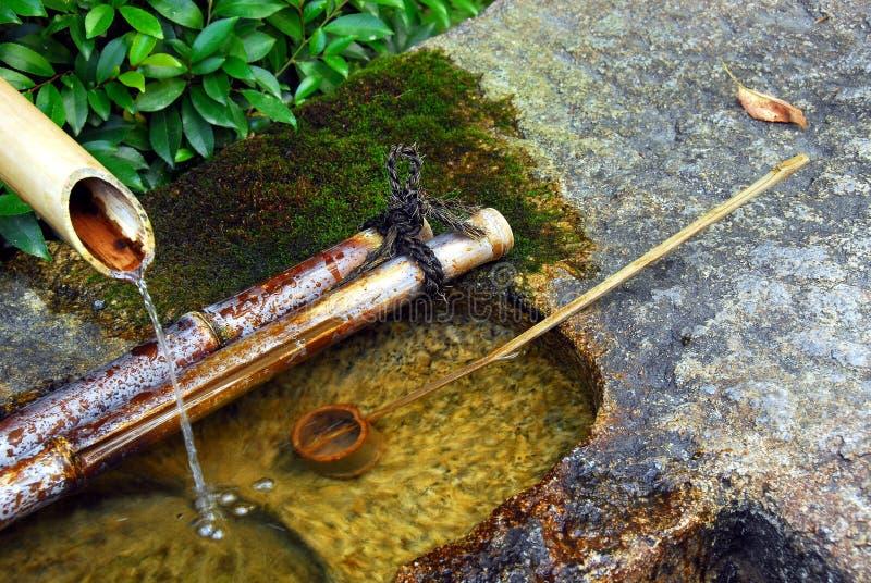 Het bassin van het Zenwater stock fotografie