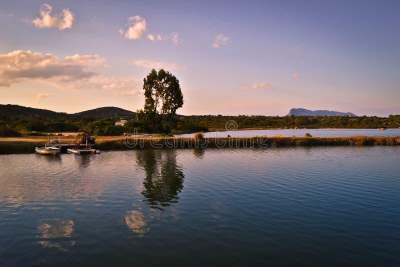 Het bassin van San Teodoro in Sardinige stock fotografie
