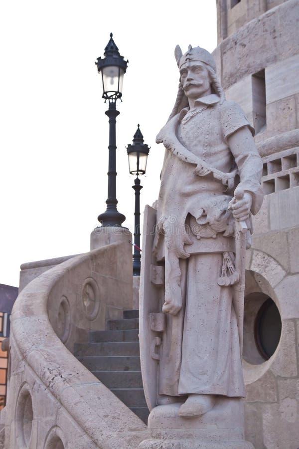 Het Bastion van de visser in Boedapest The Guardian royalty-vrije stock fotografie