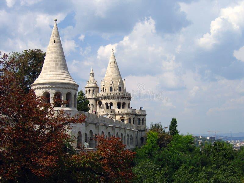 Het Bastion van de visser - Boedapest, Hongarije royalty-vrije stock afbeelding