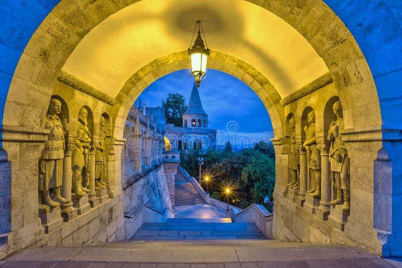 Het Bastion van de visser - Boedapest - Hongarije royalty-vrije stock afbeeldingen