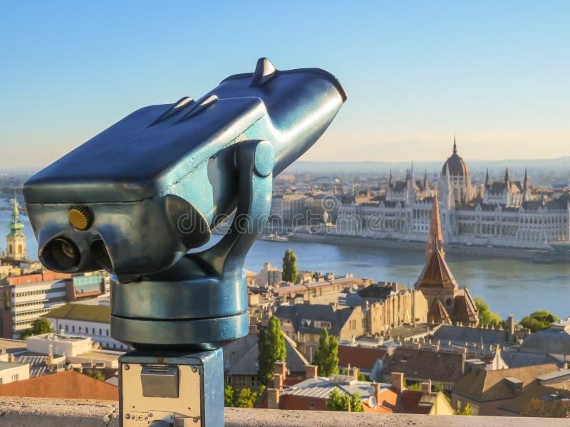Het Bastion van de visser, de stad van Boedapest stock foto's