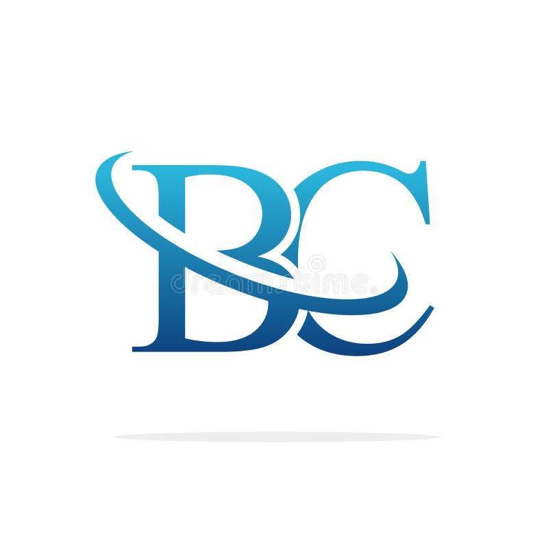 Het BC Creatieve vectorart. van het embleemontwerp royalty-vrije illustratie