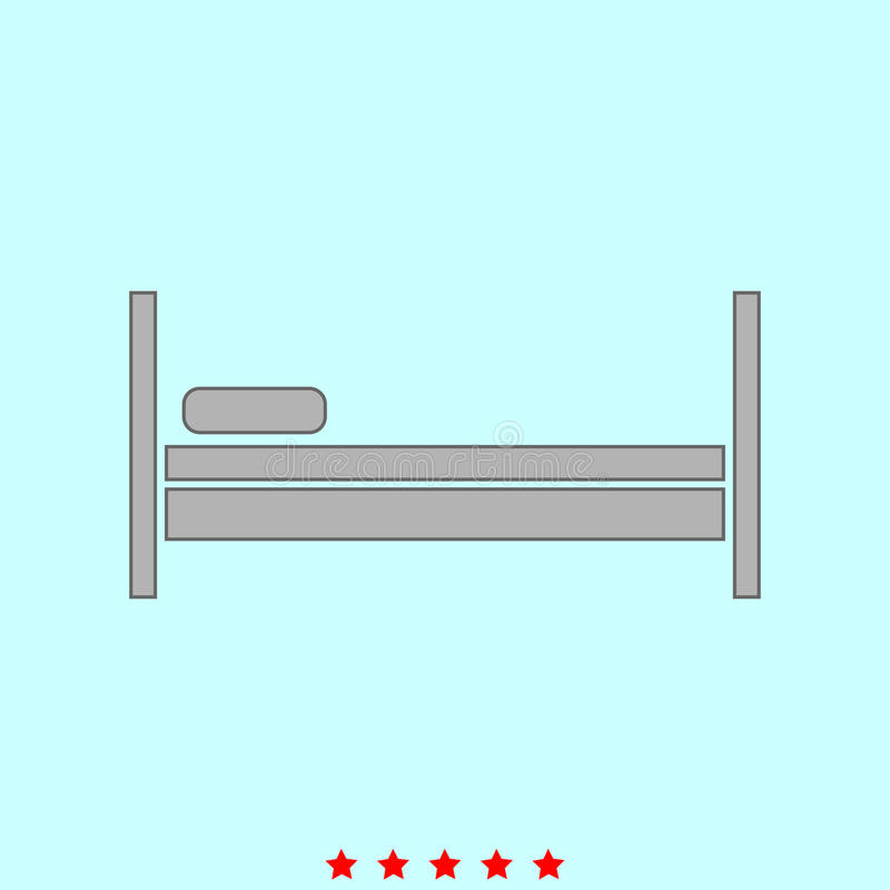 Het bed het is pictogram royalty-vrije illustratie