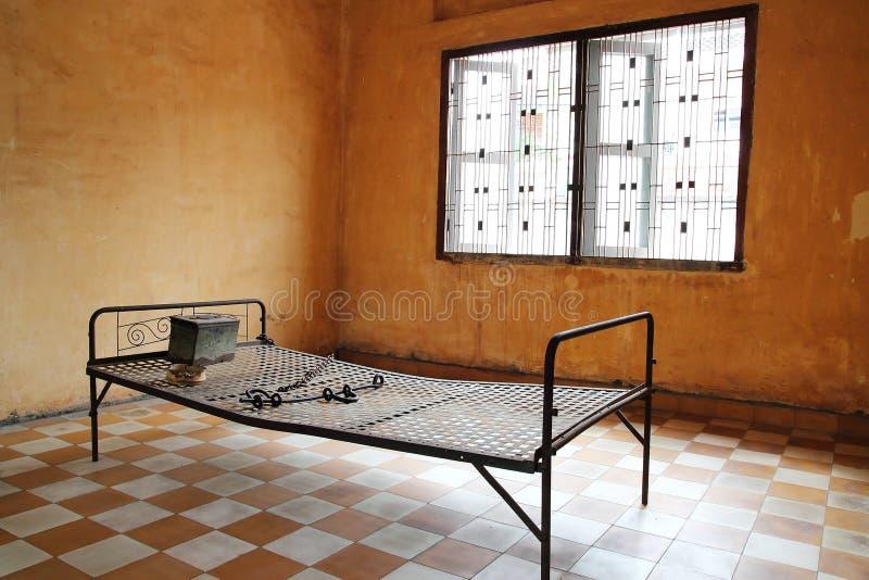 Het Bed van de gevangenis stock afbeelding