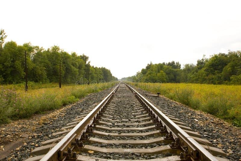 Het bed van de spoorweg royalty-vrije stock fotografie