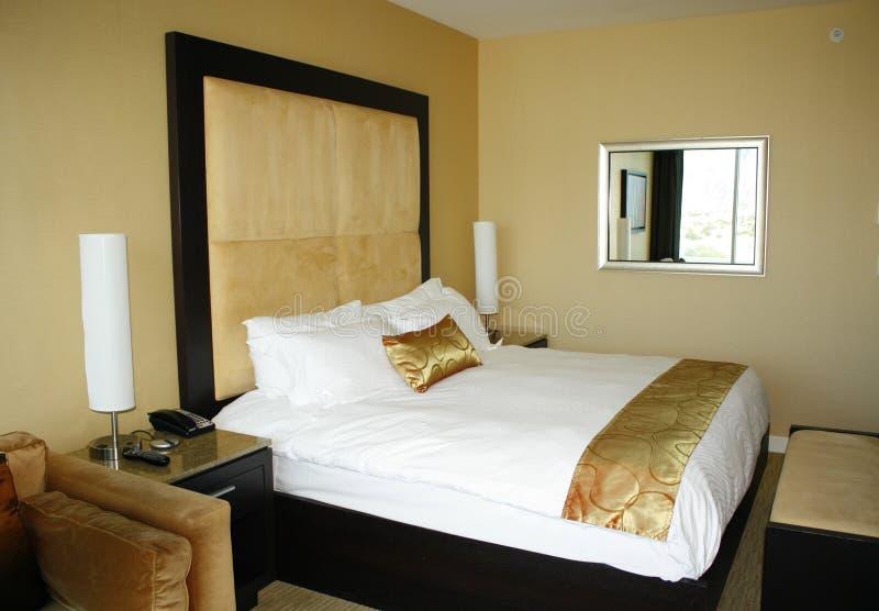 Het Bed van de Zaal van het hotel stock foto's