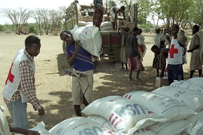 Het bedreigen van hongersnood bij Verafgelegen door klimaatverandering royalty-vrije stock fotografie