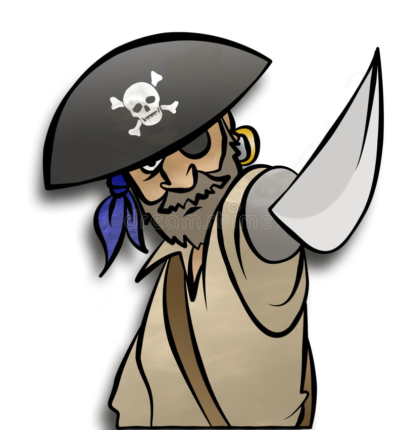 Het bedreigen van Piraat vector illustratie