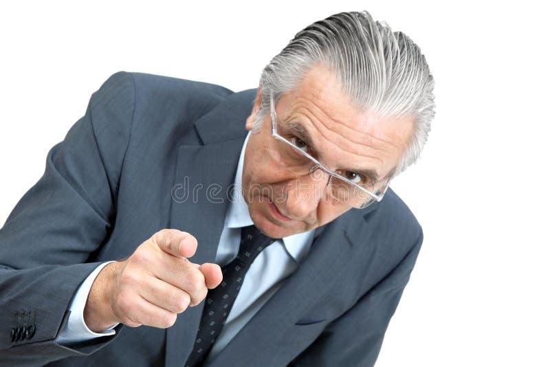 Het bedreigen van werkgever. royalty-vrije stock foto