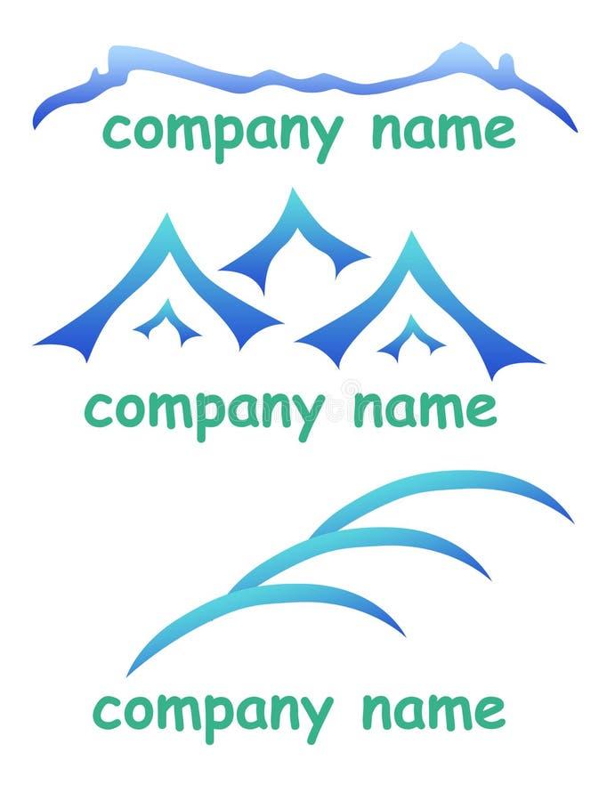 Het bedrijf van het bergembleem stock illustratie