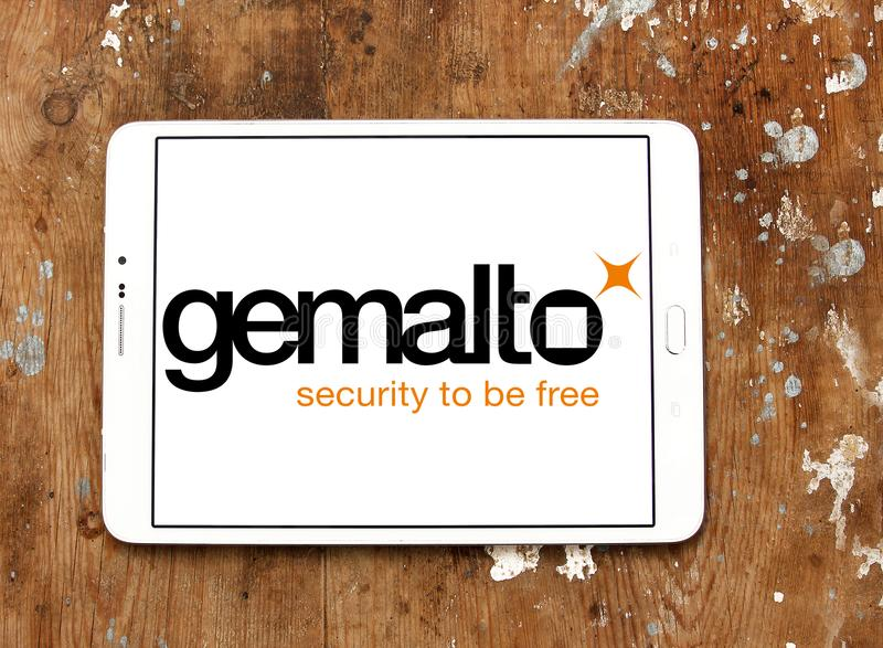 Het bedrijfembleem van de Gemalto digitaal veiligheid royalty-vrije stock foto's