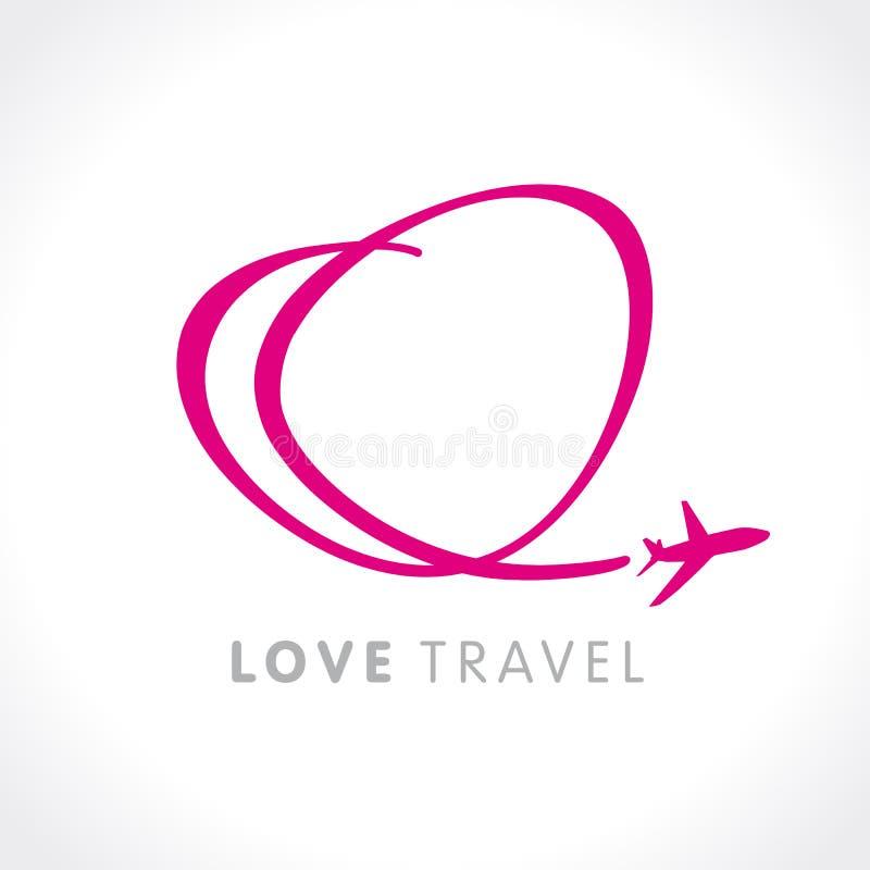 Het bedrijfembleem van de liefdereis vector illustratie