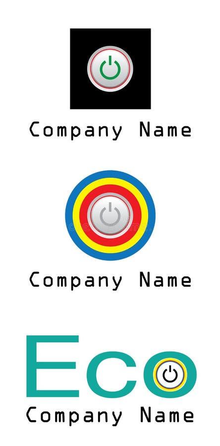 Het Bedrijfembleem Van De Macht En Van De Energie Stock Afbeelding