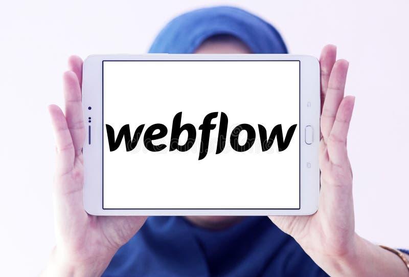 Het bedrijfembleem van de Webflowsoftware royalty-vrije stock foto