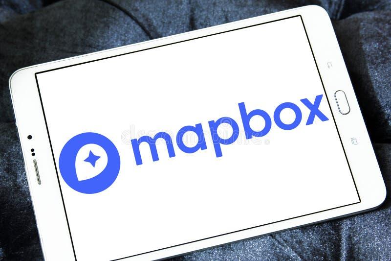 Het bedrijfembleem van Mapbox online kaarten royalty-vrije stock afbeelding