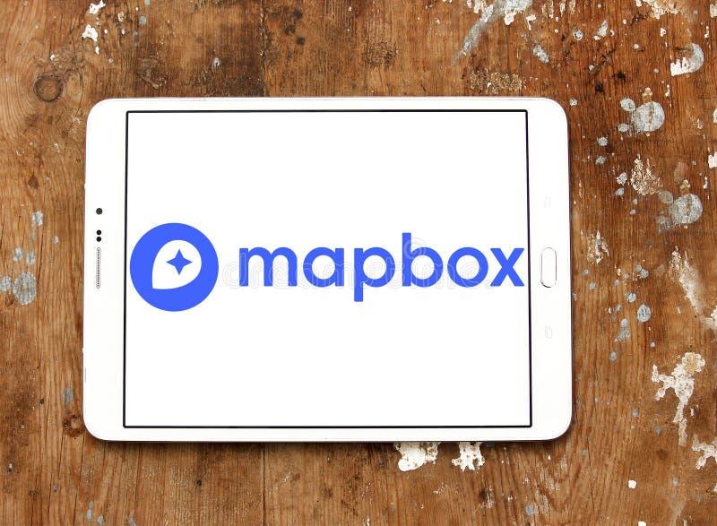 Het bedrijfembleem van Mapbox online kaarten royalty-vrije stock afbeeldingen
