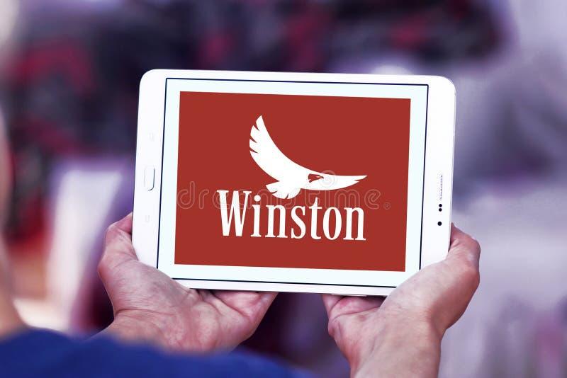 Het bedrijfembleem van Winstonsigaretten stock foto's