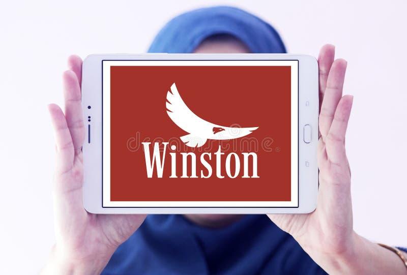 Het bedrijfembleem van Winstonsigaretten stock afbeeldingen