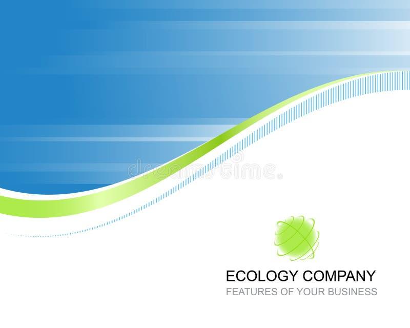 Het bedrijfmalplaatje van de ecologie stock illustratie