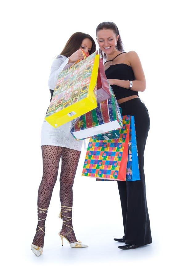 Het bedrijfs dame winkelen stock foto